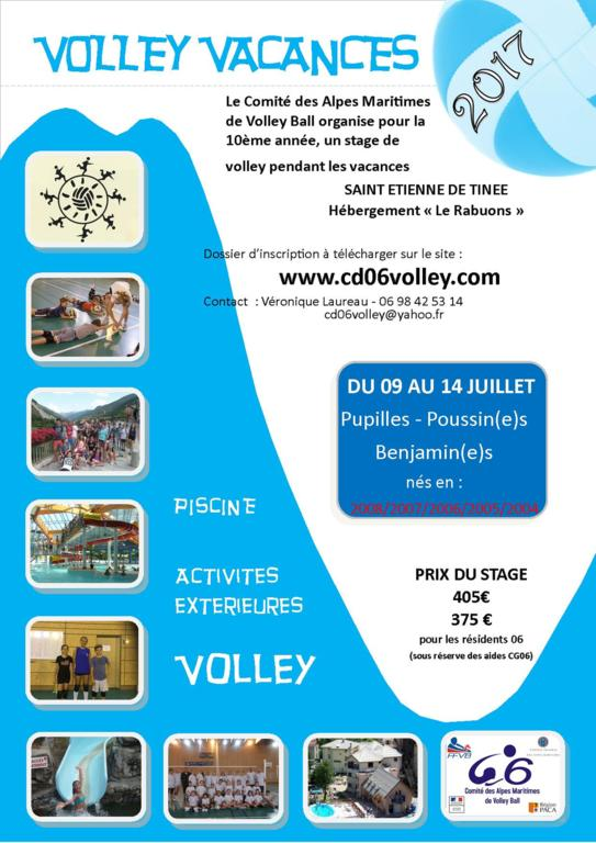 Stage Volley Vacances 2017