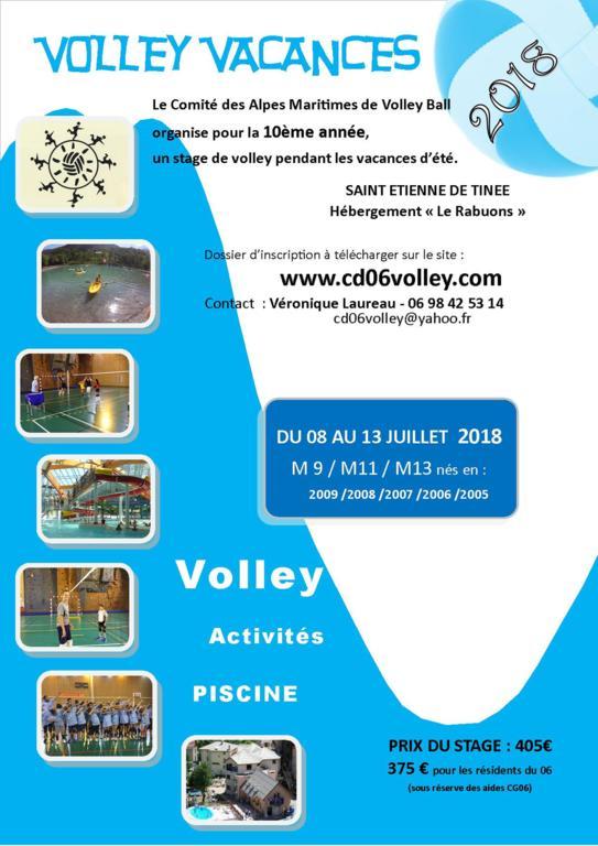 10ème Stage Volley Vacances : Inscriptions ouvertes