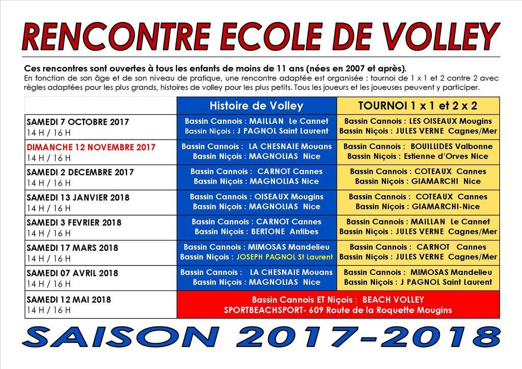 HISTOIRE DE VOLLEY : CHANGEMENT DE LIEU !