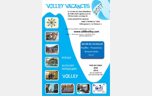 Stage Volley Vacances 2017