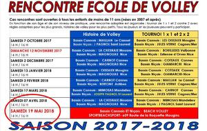 ECOLE DE VOLLEY : CHANGEMENT DE DATE