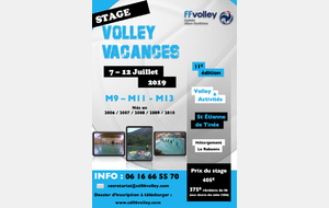 STAGE VOLLEY VACANCES 2019