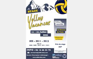 Stage Été Volley Vacances 2021